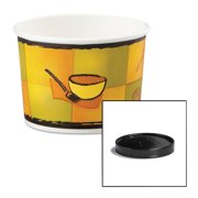 Huhtamaki Streetside Pattern 12 Oz Soup Containers with Vented Lids, 250 count