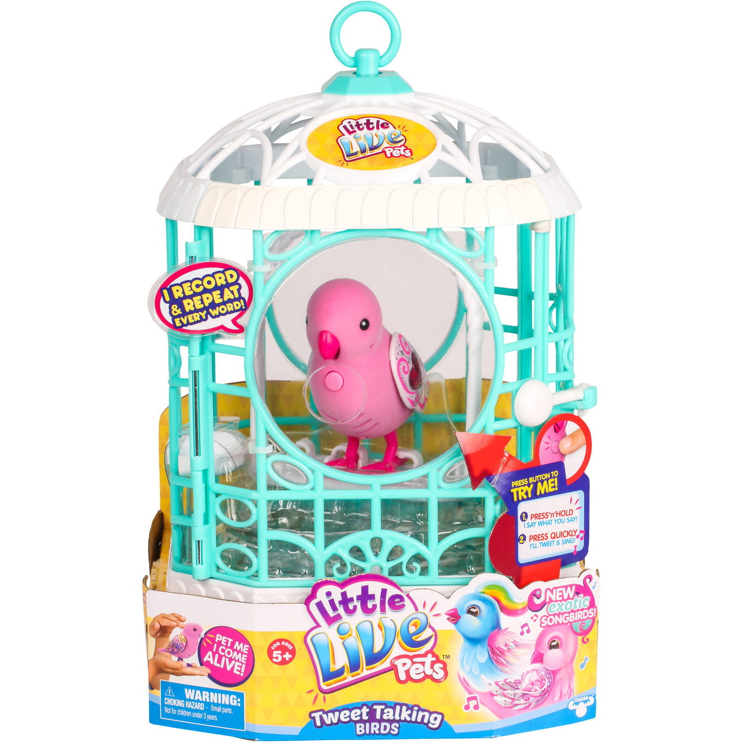 Little Live Pets S5 Bird with Cage, Ruby Belle