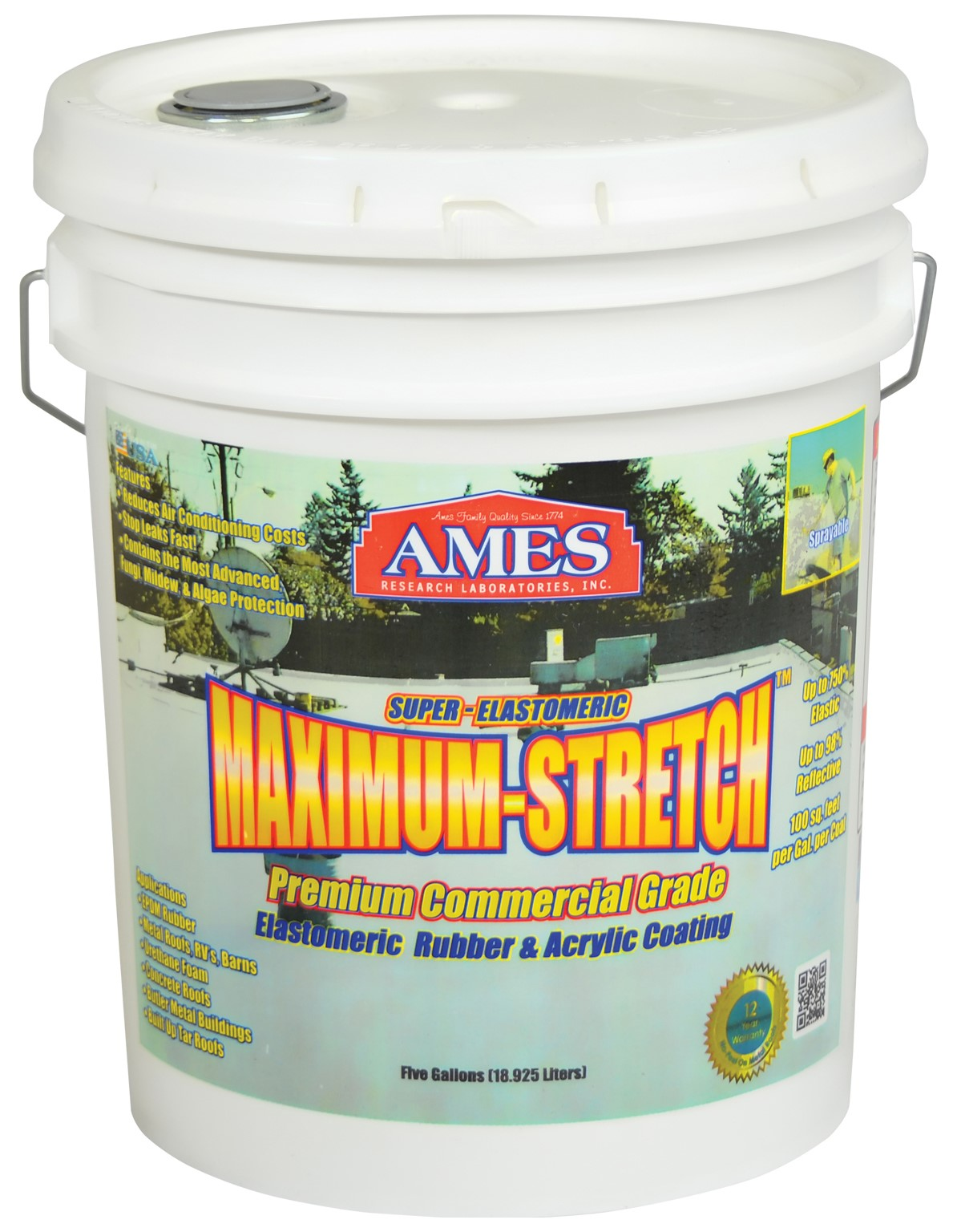 Ames Research Laboratories MSS5 5 Gallon Maximum-Stretch Elastic Coat by MSS5