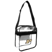 Little Earth - NCAA Clear Carryall Cross Body Bag, Purdue University Boilermakers