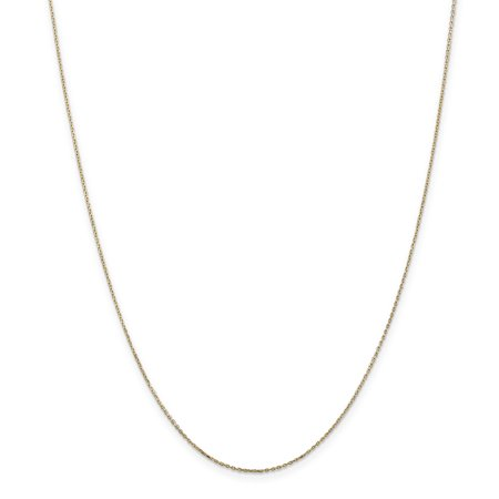 14k Yellow Gold .8mm Link Cable Chain Necklace 18 Inch Pendant Charm Round Fine Jewelry For Women Gifts For Her - image 1 de 9