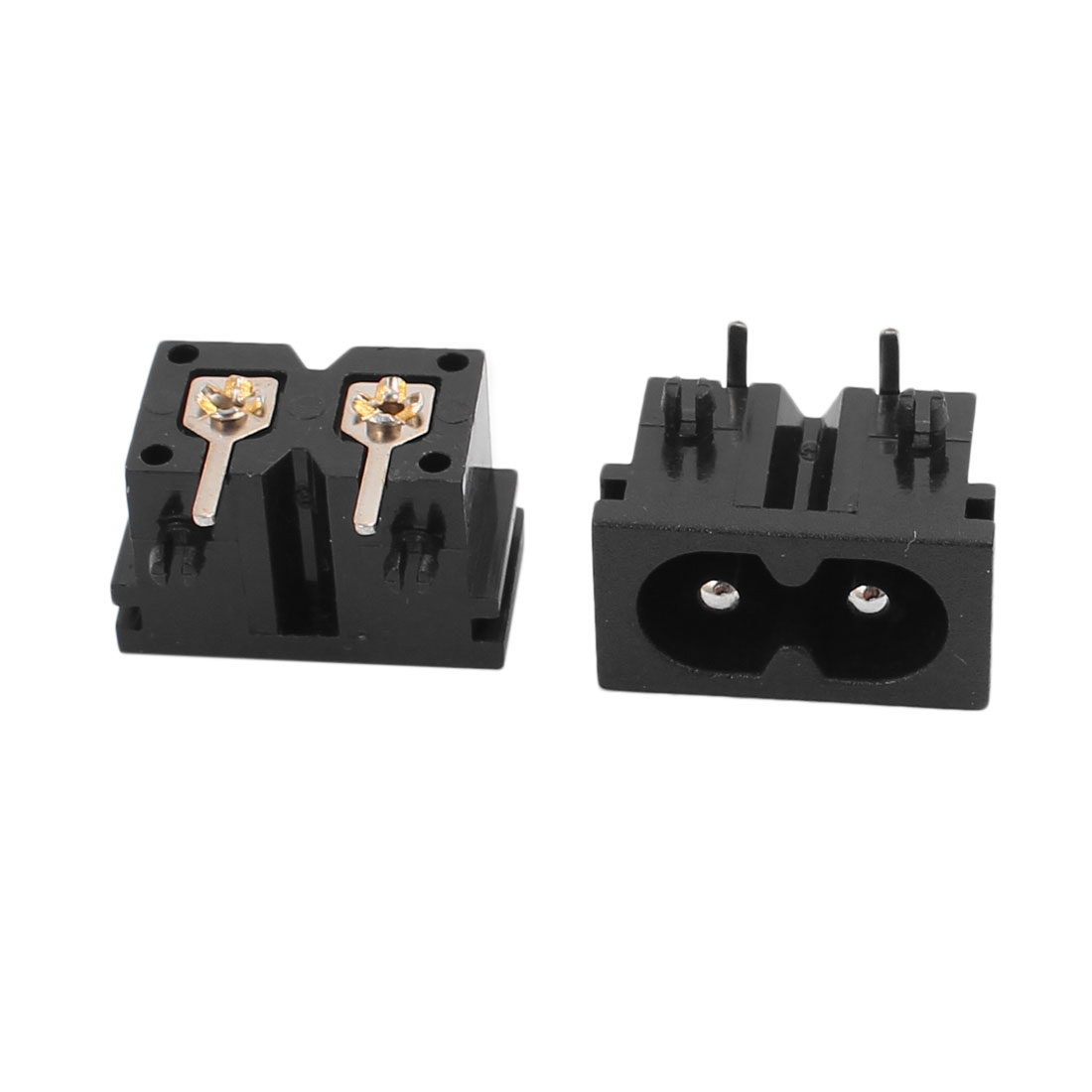 AC250V 2.5A BX-180-H01 IEC  Input Wiring Socket 2 Pins Copper Rhodium Power - image 1 of 2