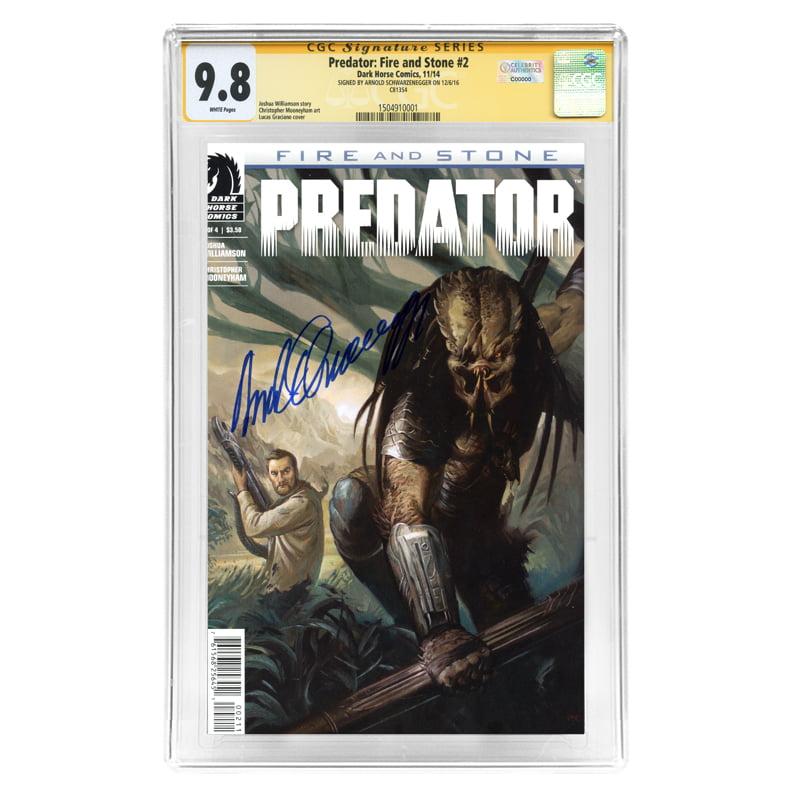 Arnold Schwarzenegger Autographed Predator Fire & Stone #2 CGC SS Signature Series 9.8 Comic