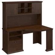 Yorktown Corner Desk with Hutch in Antique Cherry - Engineered Wood