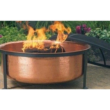 Ghp 9 Deep Hammered Copper Outdoor Bbq Patio Furniture Fire Pit