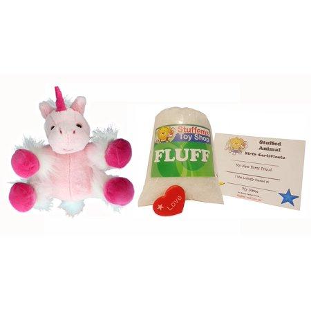 Stuffed Animal Kits (Make Your Own Stuffed Animal Mini 8 Inch Very Soft Pink Unicorn Kit - No Sewing)