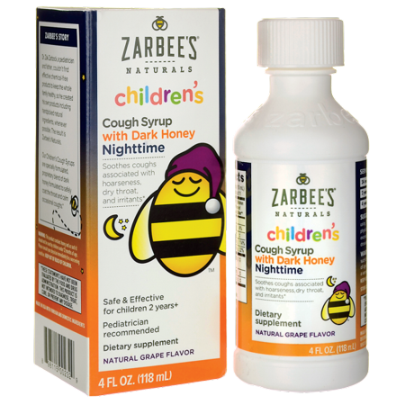 Zarbee's Children's Nighttime Cough Syrup with Dark Honey - Grape 4 fl oz