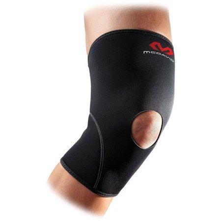 McDavid Level 1 Knee Support w/Open Patella - Adult (Black)
