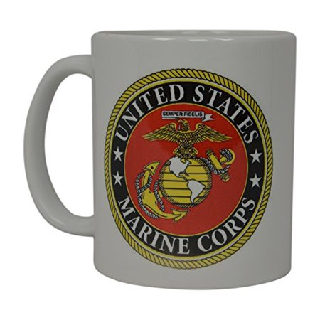 Best Coffee Mug USMC United States Marine Corps American Patriot Novelty  Cup Great Gift Idea For Women Men Marines Military Veteran (Emblem) -  Walmart.com a4f0d1e606