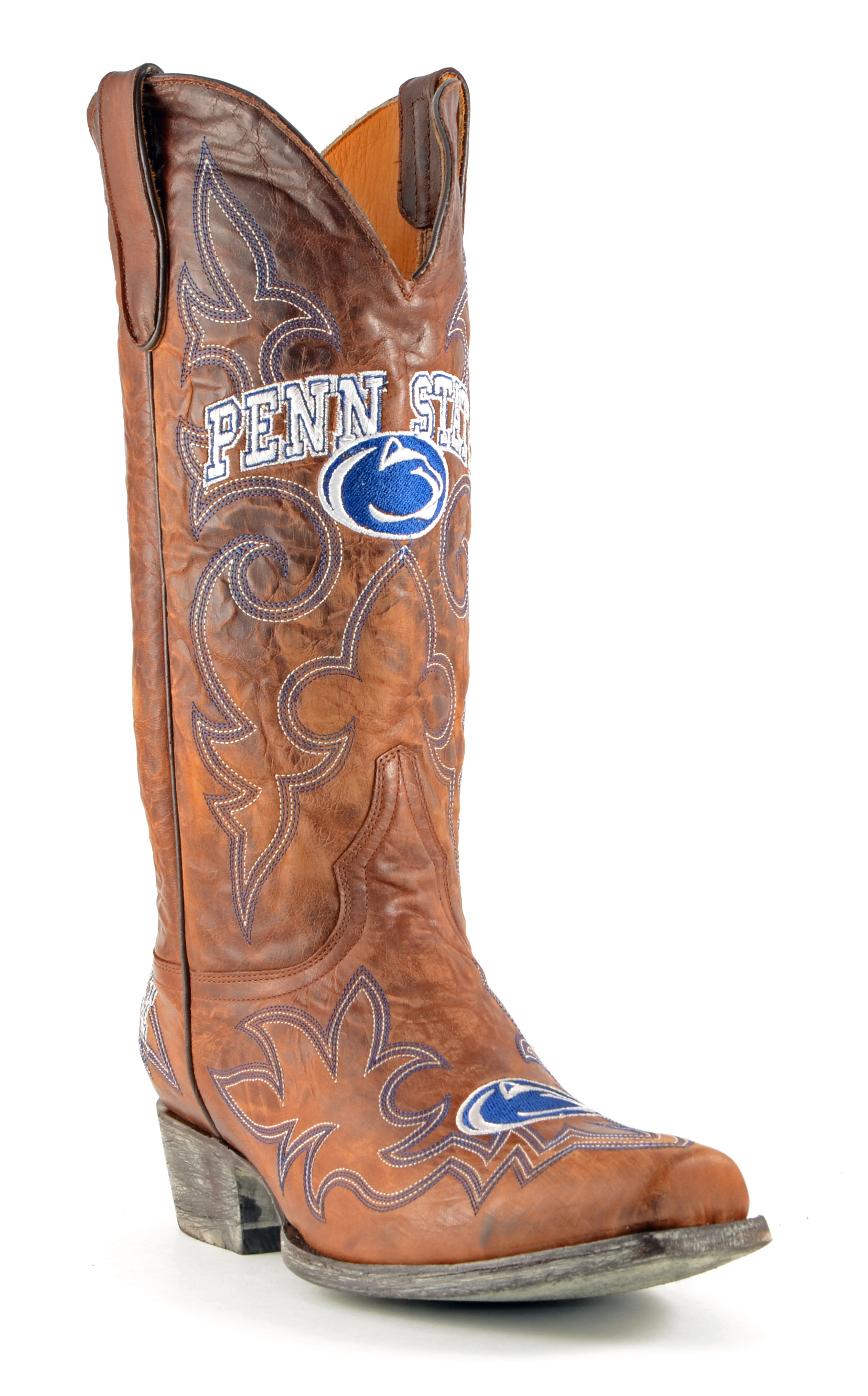 Gameday Boots Mens Leather Penn State Cowboy Boots by GameDay Boots