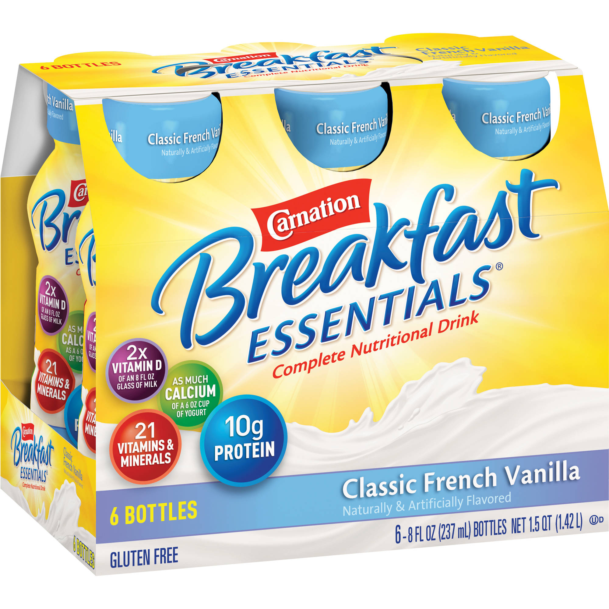 Carnation Breakfast Essentials® Classic French Vanilla Complete Nutritional Drinks, 8 fl oz, 6 count
