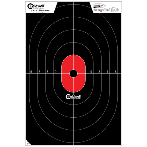 Caldwell Silhouette Center Mass Flake Off Target, 8pk