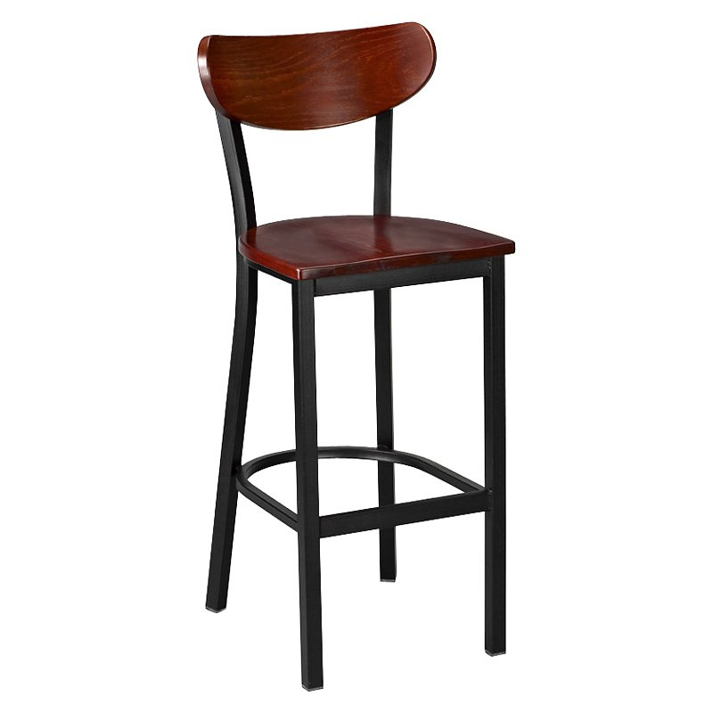Regal Dixon 26 In Metal With Wood Seat Counter Stool Walmartcom
