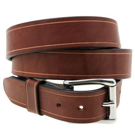 Orion Leather 1 1/2 Rich Brown Bridle Leather Belt With Saddle Groove