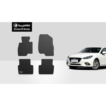 ToughPRO - MAZDA MAZDA 3 1st & 2nd Row Mats - All Weather - Heavy Duty - Black Rubber - (Mazda 6 All Weather Floor Mats 2015)