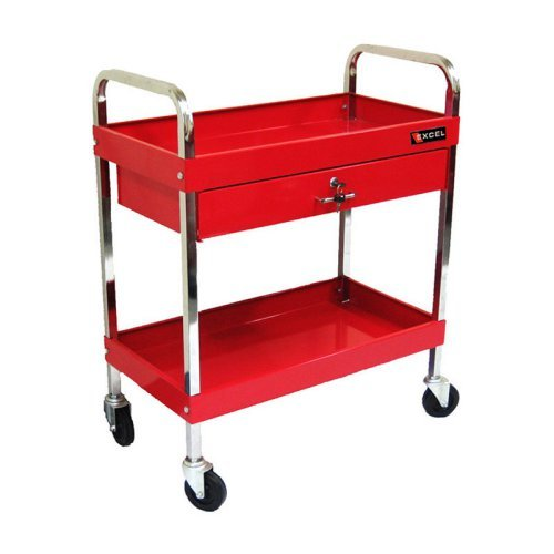 Excel 1 Drawer Steel Tool Cart - Red