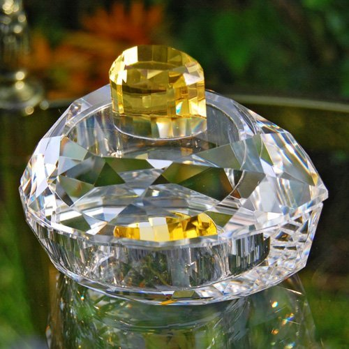 Pear Shaped Crystal Jewelry Trinket Box - 3.75W x 2.25H in.