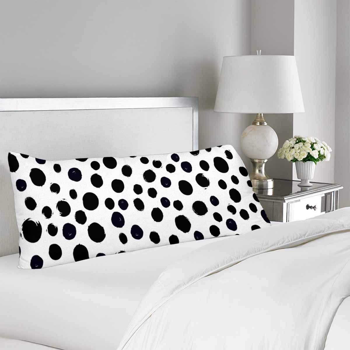 GCKG Black and White Polka Dot Body Pillow Covers Pillowcase 20x60 inches, Dotted Body Pillow Case Protector - image 1 of 2