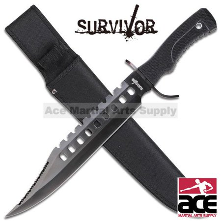 "17"" Tactical Hunting Rambo Full Tang Fixed Blade Knife Machete Bowie w/ Sheath thumbnail"