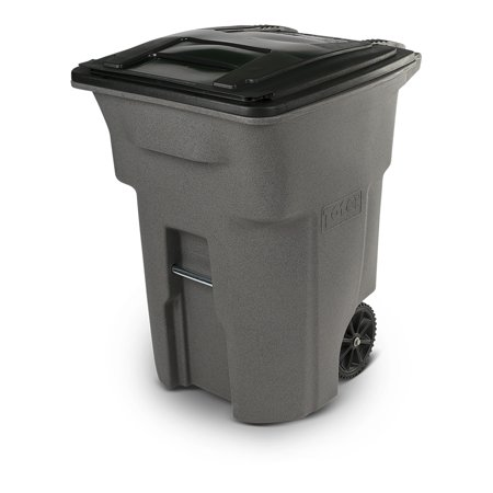 Toter 96 Gallon Trash Can Graystone with Wheels and