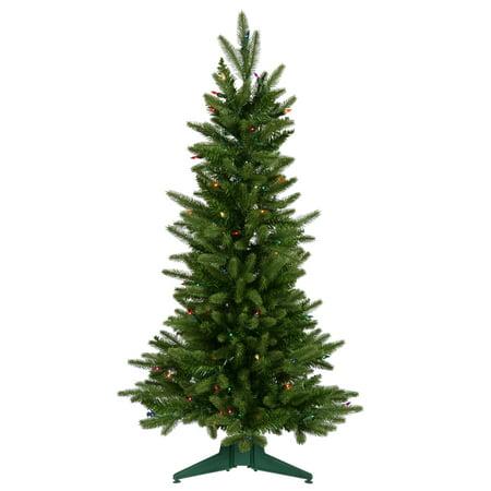 Vickerman Artificial Christmas Tree 36 x 22 Frasier Fir Dura-Lit 100 Multi-color Lights 218 Tips