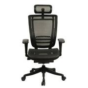 GM Seating Enklave Black Mesh Executive Hi Swivel Chair with Headrest, Black Frame & Base