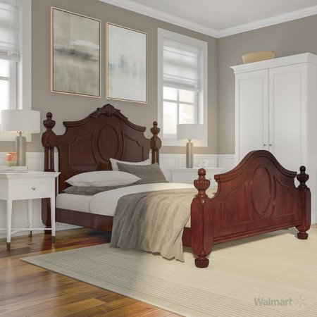 Furniture of America Marteena Traditional Queen Bed, Brown Cherry ()