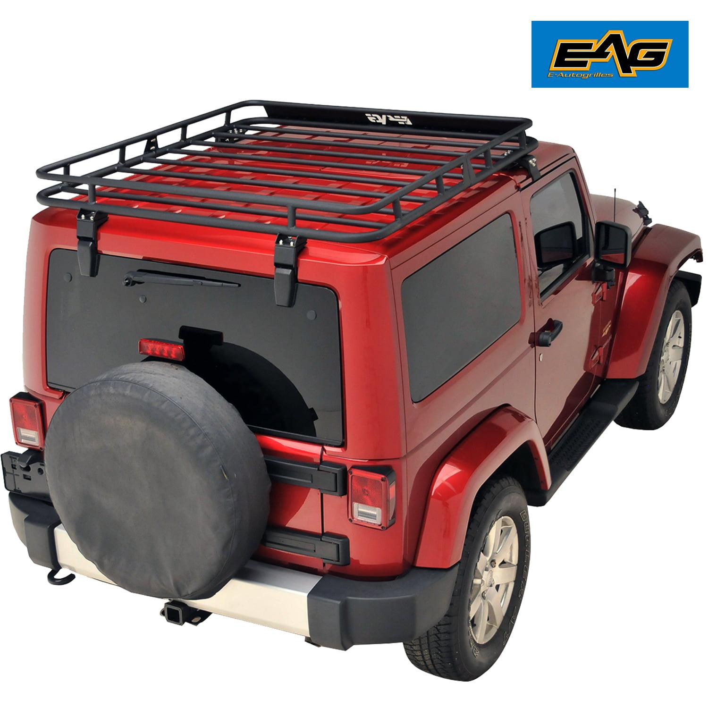 Wrangler Roof Rack >> Eag Door Roof Rack Cargo Basket Fits 07 18 Jeep Wrangler Jk