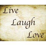 Secretly Designed Live Laugh Love Art Print