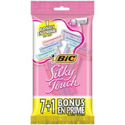 BIC Silky Touch Women's 2 Blade Disposable Razors, 8 count