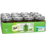 Ball Glass Mason Jars with Lids & Bands, Wide Mouth, 16 oz, 12 Count