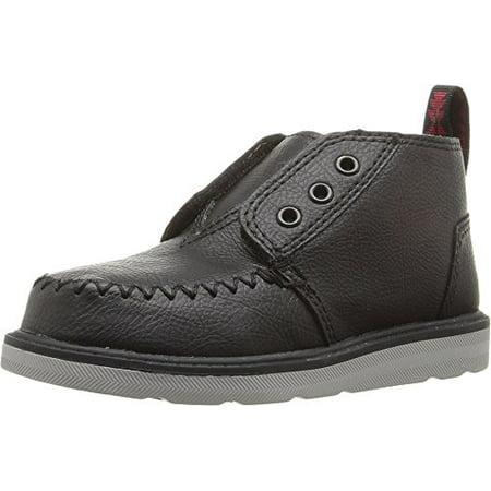 toms 10009214: chukka black boots (5 m us toddler)