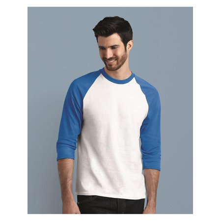 T-Shirts Heavy Cotton Three-Quarter Raglan Sleeve Baseball T-Shirt ()