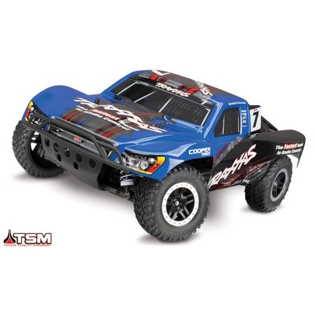 Traxxas Tra68086-4 Slash 4Wd 1/10 S.C Truck Rtr, W/ Tsm, And Vlx Brushless Truck