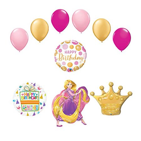 Rapunzel Crown Princess Balloon Birthday Party Supplies and - Rapunzel Birthday Supplies