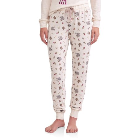 JV Apparel Women's and Women's Plus Printed Jogger Sleep Pants Brushed - Vampire Clothing For Women