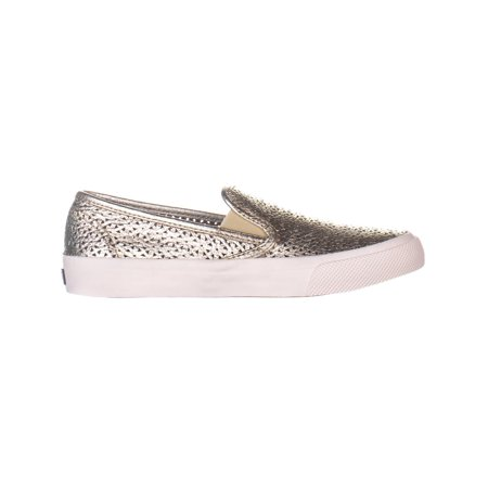 Sperry Top-Sider Seaside Perforated Slip On Fashion Sneakers, Platinum - image 4 of 6