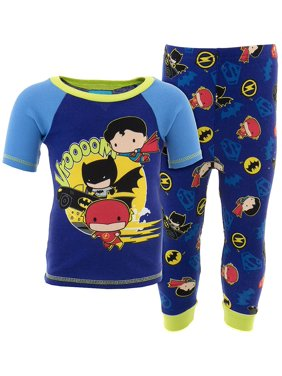 DC Comics Boys Blue Justice League Cotton Pajamas