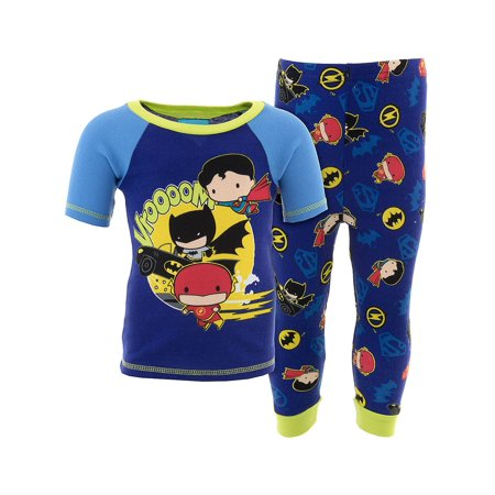 DC Comics Boys Blue Justice League Cotton Pajamas (Justice Boys)