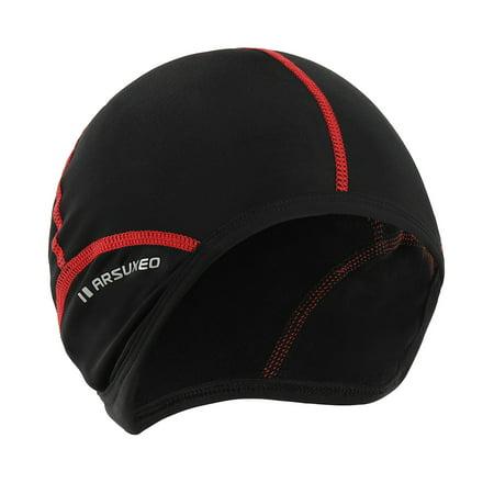 Outdoor Sports Men Cycling Cap Bicycle Bike Helmet Liner Running Skiing Fleece Windproof Bandana Winter Caps - Fleece Helmet Cover