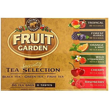 Fruit Garden Black, Green and Fruit Tea Selection, 6 Tastes 60 (Best Way To Make Green Tea Taste Good)