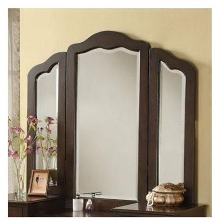 Click here to buy ACME Annapolis Vanity Mirror, Brown by Acme Furniture.