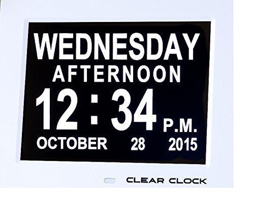 Clear Clock Digital Memory Loss Calendar Day Clock With Optional Day Cycle Mode Perfect... by