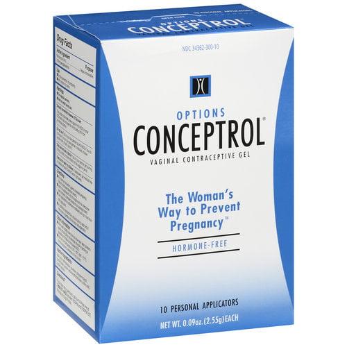 Options Conceptrol Vaginal Contraceptive Gel Applicators - 10 ct