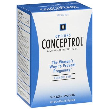 Options Conceptrol Vaginal Contraceptive Gel Applicators   10 Ct