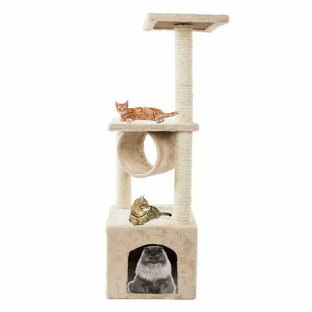 Cat Tree Condo Furniture Kitten Activity Tower Pet Kitty Play House Beige