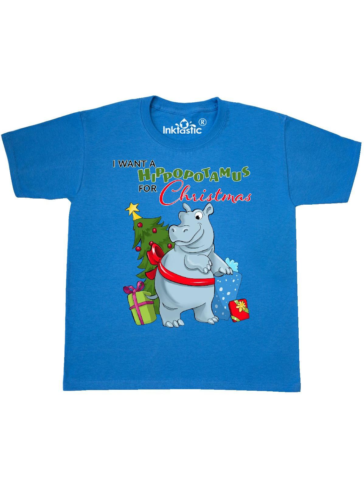 I Want a Hippopotamus for Christmas Youth T-Shirt