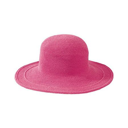 Women's San Diego Hat Company Cotton Crochet Hat Large Brim