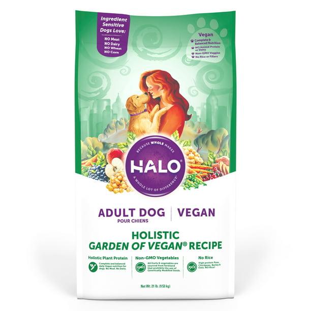 Halo Vegan Dry Dog Food, Garden of Vegan Recipe, 21-Pound Bag