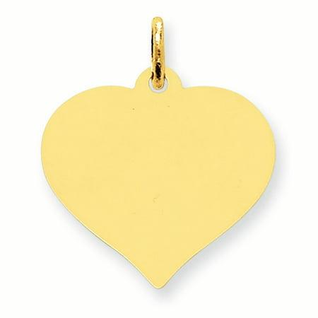 357 Lineage Pendant (14K Yellow Gold .018 Gauge Heart Disc Charm Pendant MSRP $357 )